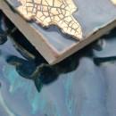 Aixa small, Orientstern Blau seegruen Gold