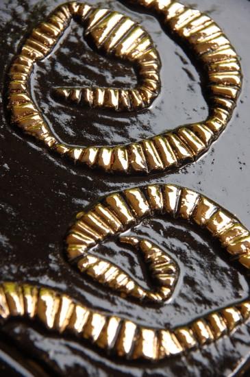Schnecken Schwarz Gold