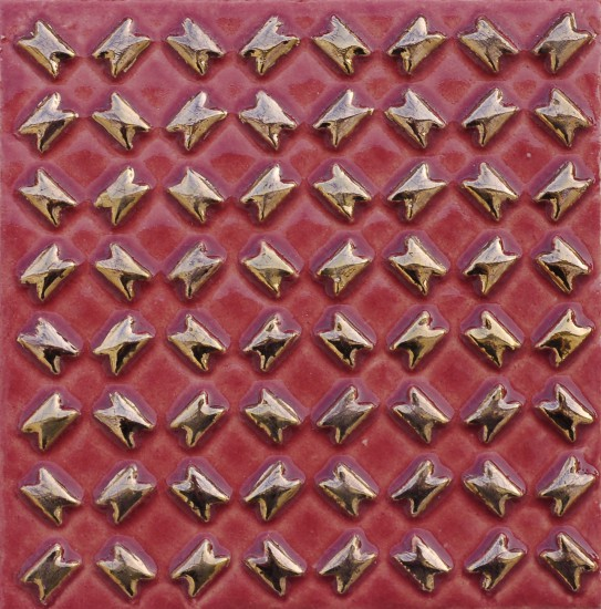 Diagonal, rot-gold