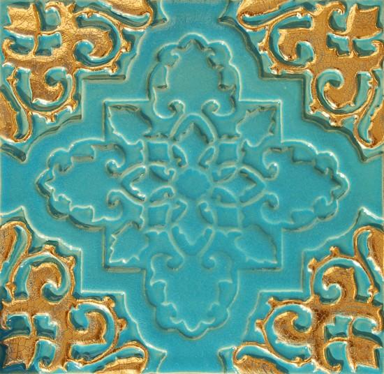 Orientsstern türkis-gold