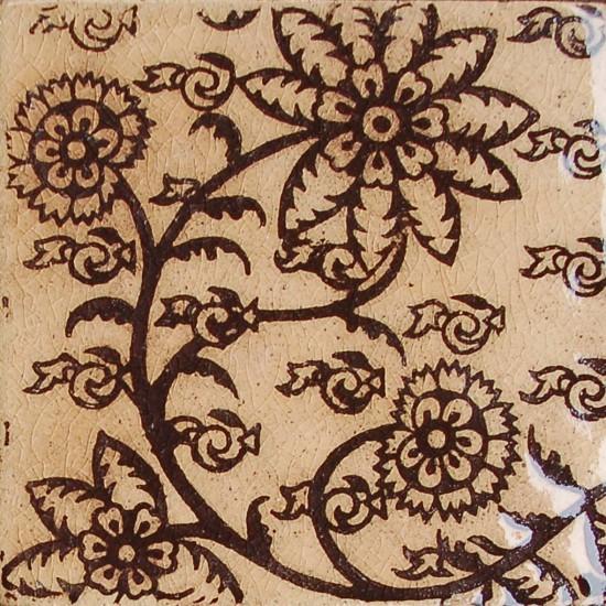 Delftblüten, braun-rosenholz