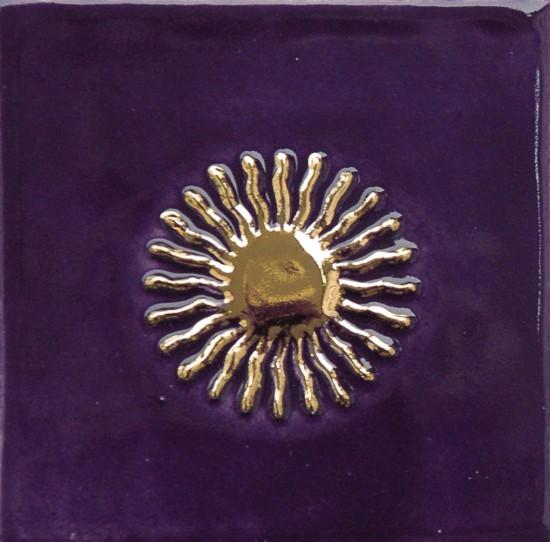 Sonne, violett-gold