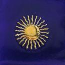 Sonne, marineblau-gold