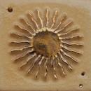 Sonne, rosenholz-gold