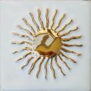 Sonne, weiss-gold