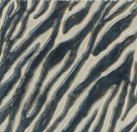 Zebra, schwarz-schiefer 18x18