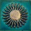 Sonne Türkis Gold